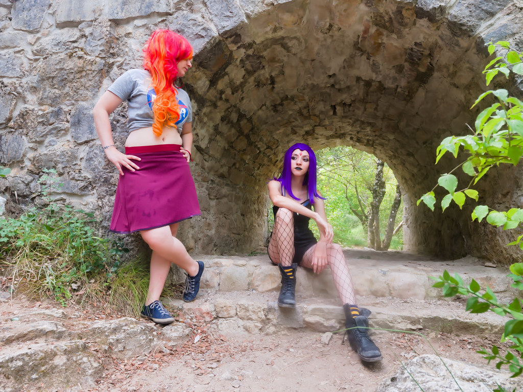 related image - Shooting Starfire & Raven - Teen Titans - Gorges du Caramy -2019-08-20- P1833406
