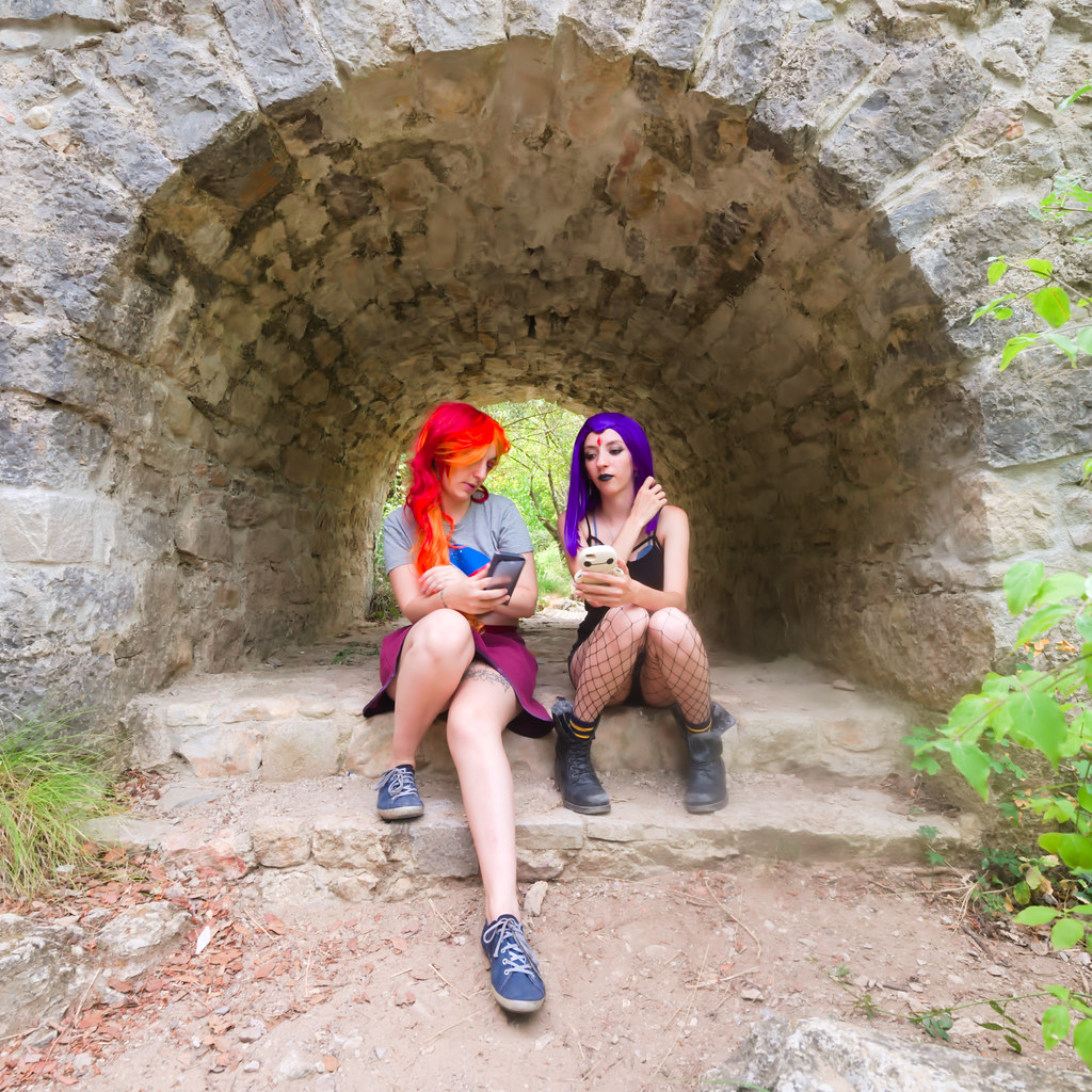 related image - Shooting Starfire & Raven - Teen Titans - Gorges du Caramy -2019-08-20- P1833418