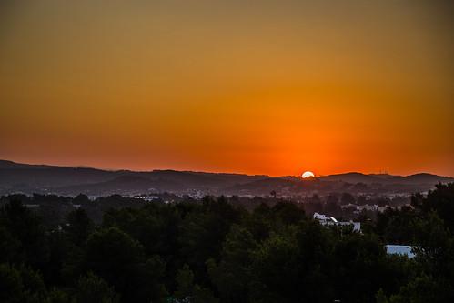 Sunrise over Ibiza