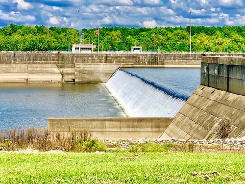 William Bacon Oliver Dam on the Warrior River, Tuscaloosa, Alabama.