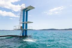 Diving tower in the Adriatic Sea of Zadar, Croatia
