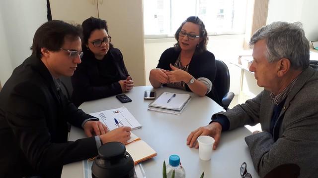 02/09/2019 Reunião com a presidente da FEPAM, Marjorie Kauffmann sobre o Aeroporto Regional da Serra