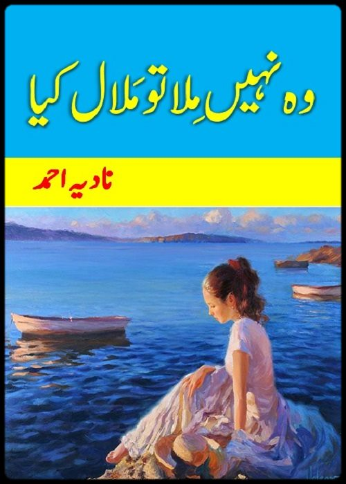Woh Nahi Mila Tou Malal Kia is a very well written complex script novel by Nadia Ahmad which depicts normal emotions and behaviour of human like love hate greed power and fear , Nadia Ahmad is a very famous and popular specialy among female readers