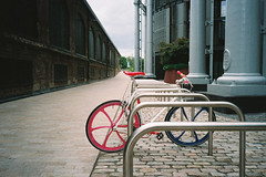 Red and Blue Rimmed Cycle