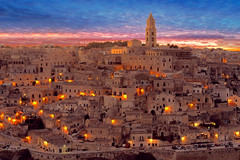 """Image by Bruno Tartaglione (184060075@N02) and image name MAGICAL!!! photo  about When I have time, I often go to Matera, a few kilometers far from Bari, my town. This is Matera ancient town, the """"Sassi"""", where, in some way, I feel at home. The Sassi originated in a prehistoric troglodyte settlement. They are habitations dug into the calcareous rock itself, which is cha"""