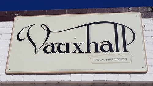 Vauxhall-The Car SuperExcellence, Must have been before GM Bought them. Posters in the Town that built Sydney with  Cement from the Commonwealth Portland Cement Co. At Portland NSW. This town is worth the detour with lots of posters from our illustrious p