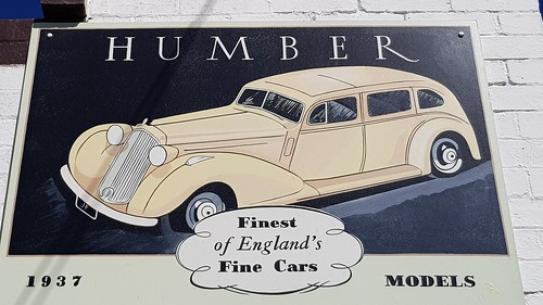 Humber SuperSnipe 1937, Posters in the Town that built Sydney with  Cement from the Commonwealth Portland Cement Co. At Portland NSW. This town is worth the detour with lots of posters from our illustrious past. They also have Silo Art, now open to the pu