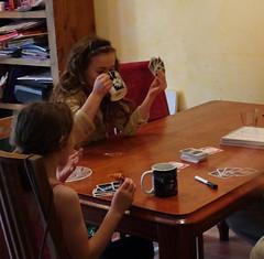 Girls Playing Cards