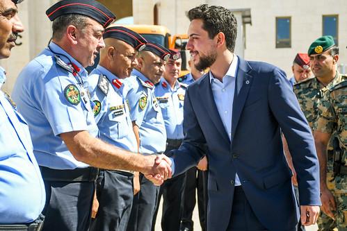 سمو الأمير الحسين بن عبدالله الثاني، ولي العهد، يزور مديرية الأمن العام
