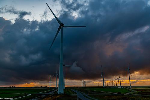 Stormy Sunset @ Eeemshaven Netherlands.