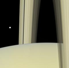 Saturn and Mimas - September 4 2007