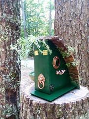 New DIY birdhouse  (side view)