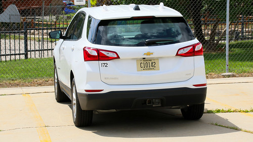 Milwaukee WI Photo:  MCTS (Milwaukee County Transit System) 172 Chevy Equinox Sport Utility Vehicle At MCTS Headquarters Yard