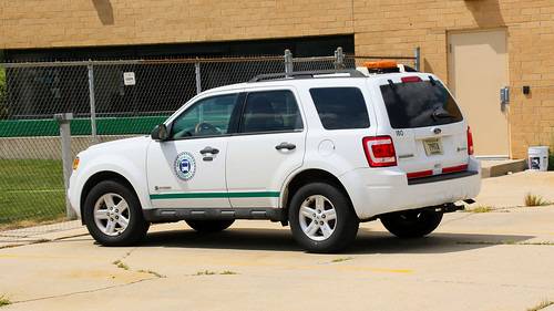 MCTS (Milwaukee County Transit System) 180 Ford Escape Car At MCTS Headquarters Yard