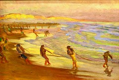 Pulling in the net (c. 1922-1926) - Adriano de Sousa Lopes