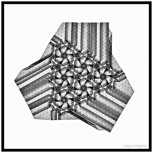 Origami Flowers-B&W  (Marjan Smeijsters)