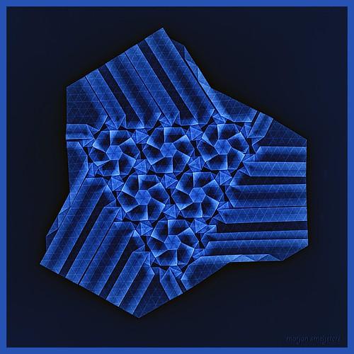 Origami Flowers-blue (Marjan Smeijsters)