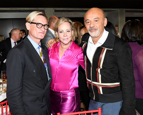Hamish Bowles, Couture Council Board Member Yaz Hernandez, and Christian Louboutin