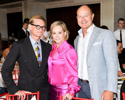 Hamish Bowles, Couture Council Board Member Yaz Hernandez, and Guest