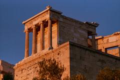 acropolis, sunset