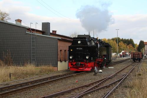 2018-10-21; 0130. HSB 99 234 met GmP Sonderzug. Benneckenstein.