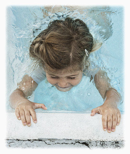 Grand daughter #45 2019; Kickin' in the Pool