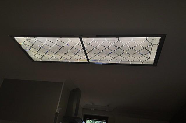 Skleněné stropní světlo broušené