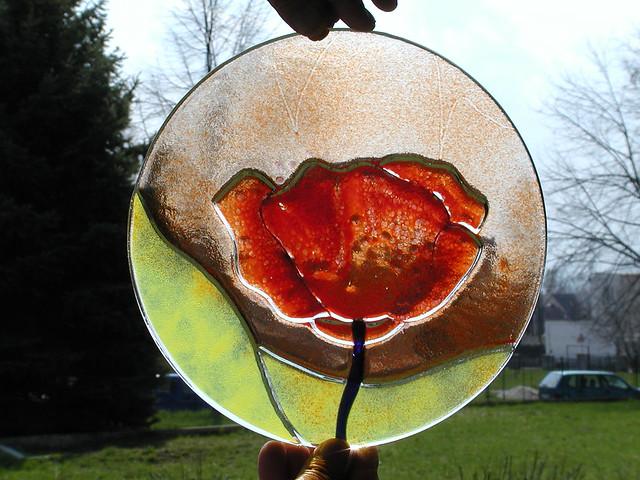 fusingové sklo dekorace