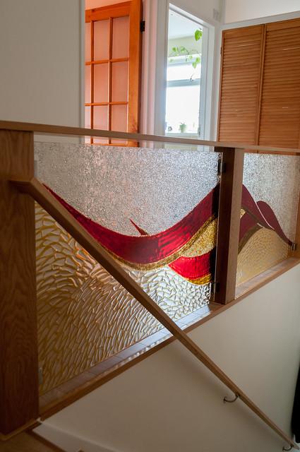 fusingové sklo zábradlí
