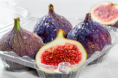 Ripe fresh figs close up