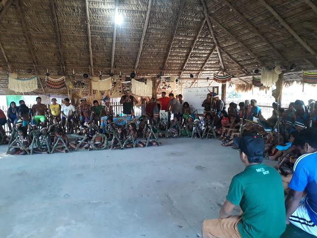 Povo indígena, que integra parte do mosaico do Gurupi, no Pará - Créditos: Foto: Povo Tembé