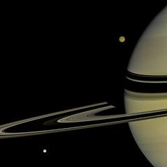Saturn, Tethys & Titan  - January 30 2008