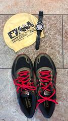 Sportszubehör zum Aqua jogging, mit Badekappe und wasserfester Uhr