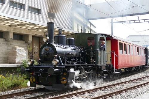 Steam Train E 3/3 No. 456 Nordostbahn NOB Remisenfest Hochdorf Switzerland