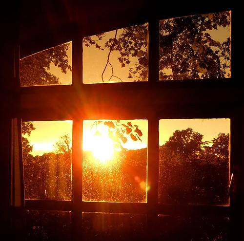 Golden sunset after a rainy day