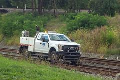 Track inspector works his way east, Shenandoah Junction, WV