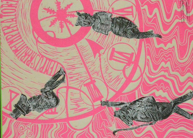 Lino print by Isabelle Townshend