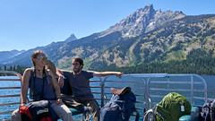 Image by Alex Butterfield (apbutterfield) and image name Jenny Lake shuttle boat photo  about
