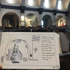 Sketch at church