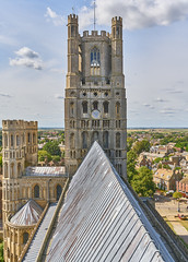 Ely Cathedral, Cambridgeshire - West Tower and Nave Roof