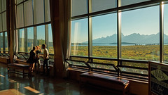 Image by Alex Butterfield (apbutterfield) and image name Jackson Lake Lodge photo  about