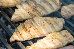 Chicken White Meat on the barbecue grill