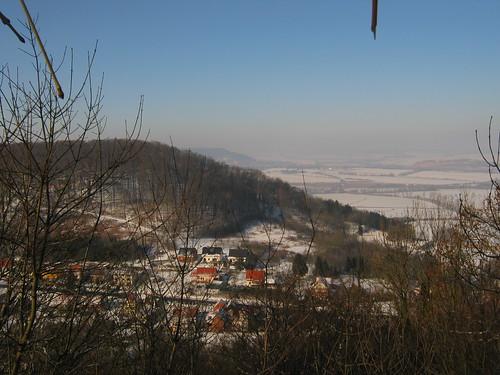 Burg Lohra, Blick von der Burg auf Friedrichslohra