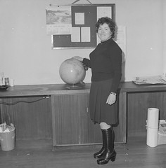 Teacher in class from Scoil Mhuire's secondary school, Derrybeg, Co. Donegal
