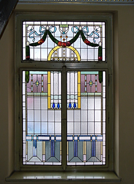 vitráže barevné s malbou