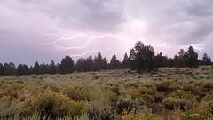 Lightning storm in central Oregon