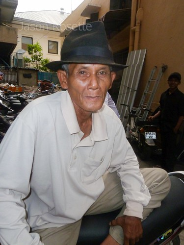 Man with a Smart Hat in an Alley in Phnom Penh (#2)