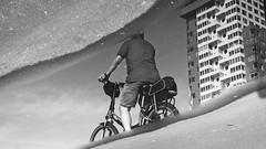 wet cyclist
