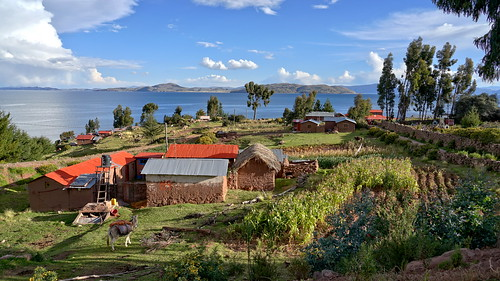 Indian village on Lake Titicaca