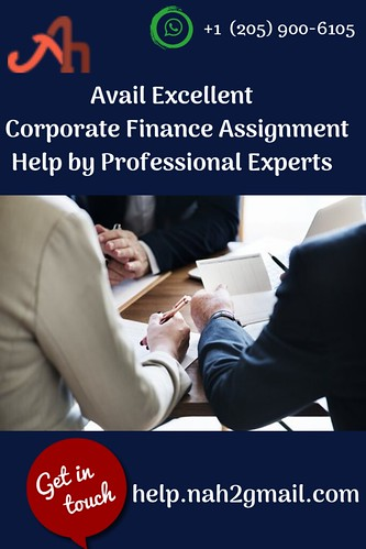 Avail Excellent Corporate Finance Assignment Help by Professional Experts